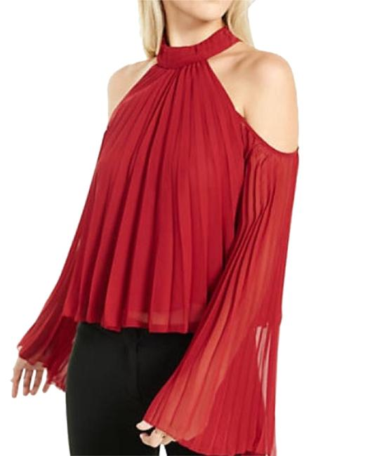 Preload https://item2.tradesy.com/images/express-red-cold-shoulder-blouse-size-2-xs-19355371-0-1.jpg?width=400&height=650