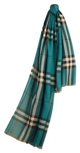 Burberry BURBERRY LIGHTWEIGHT OMBRE CHECK WOOL AND SILK SCARF