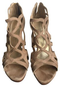 Stuart Weitzman Summer Leather Beige, Tan Sandals