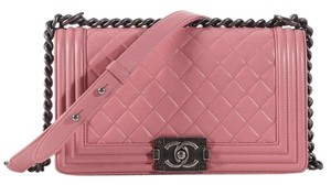 Chanel Ruthenium Ch.k0810.10 Quilted Shoulder Bag
