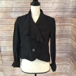 Free People Black Blazer