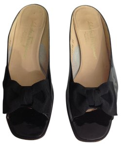 Salvatore Ferragamo Black patent Sandals