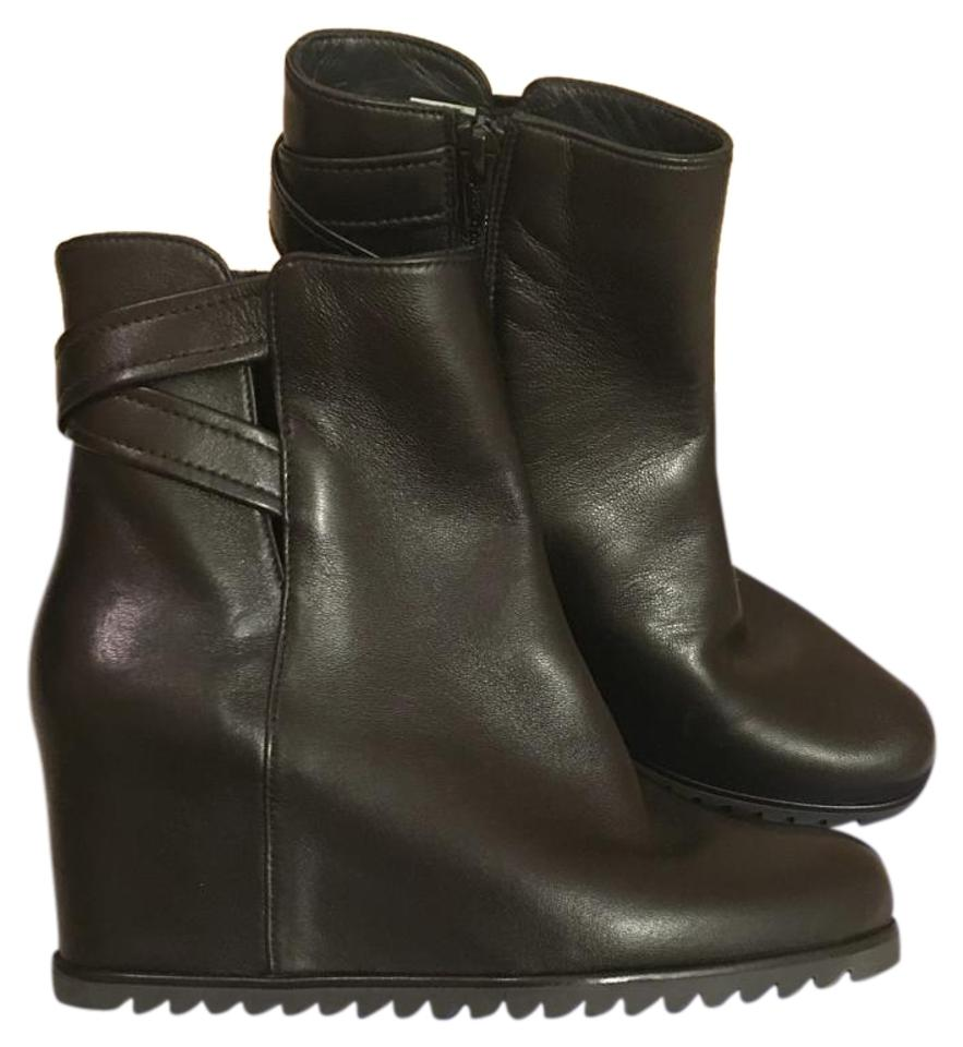 Stuart Weitzman Black Nappa Fitness Comodo Pipe /Zag Boots/Booties Size US  6 Regular (M, B) 63% off retail