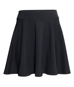 H&M Elastic Skirt black