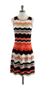 Trina Turk short dress Coral & Black Chevron Knit on Tradesy