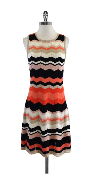 Preload https://item2.tradesy.com/images/trina-turk-multicolor-coral-and-black-chevron-knit-sleeveless-above-knee-short-casual-dress-size-8-m-19355681-0-0.jpg?width=400&height=650