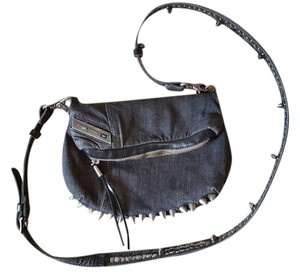 Diesel Studded Leather Monogram Cross Body Bag
