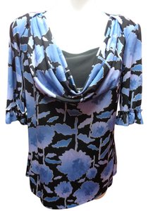 East 5th Essentials Cowl Neck Princess New With Tags Top Black/Blue