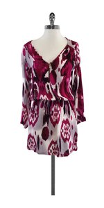 Karina Grimaldi short dress Magenta Print Long Sleeve on Tradesy