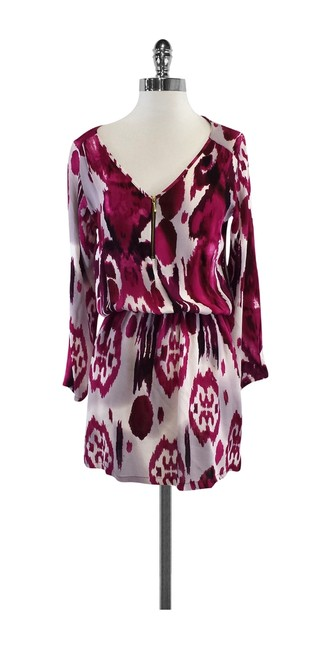 Preload https://img-static.tradesy.com/item/19355845/karina-grimaldi-magenta-print-long-sleeve-mini-short-casual-dress-size-0-xs-0-0-650-650.jpg