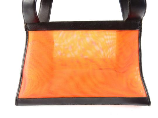 Chanel Beach Mesh Vintage Tote in Red/Orange/Yellow