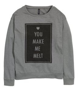 H&M Patterned Words Sweatshirt