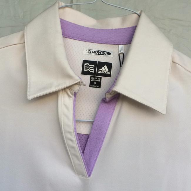 adidas T Shirt Ivory and lavander