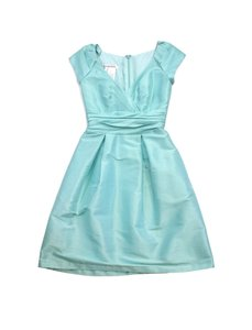 Alfred Sung short dress Powder Blue Iridescent Cap Sleeve on Tradesy