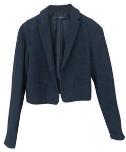 Calvin Klein Collection Short-waisted Silk Black Blazer