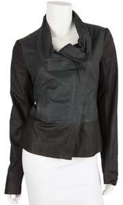 Vince Navy & Black Leather Jacket