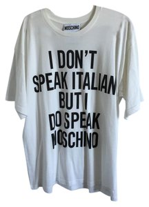 Moschino Italian T Shirt White