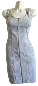 Alexander Wang short dress Heather & Grey Zipper on Tradesy