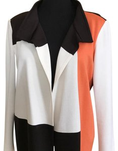 St. John Mahogany Brown, Peach, Off-White Blazer