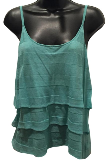 Preload https://item5.tradesy.com/images/white-warren-robin-s-egg-blue-tiered-camisole-sweaterpullover-size-12-l-19356529-0-2.jpg?width=400&height=650