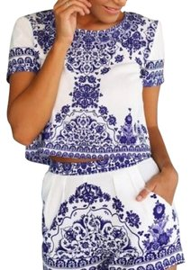 Esther Boutique Top Blue and white