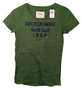 Abercrombie & Fitch Graphic Soft Blue T Shirt Green