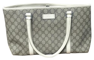 Gucci Satchel in White And Gray