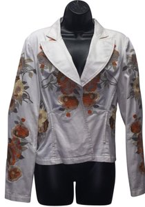 A.B.S. by Allen Schwartz Abs Embroidered White Blazer