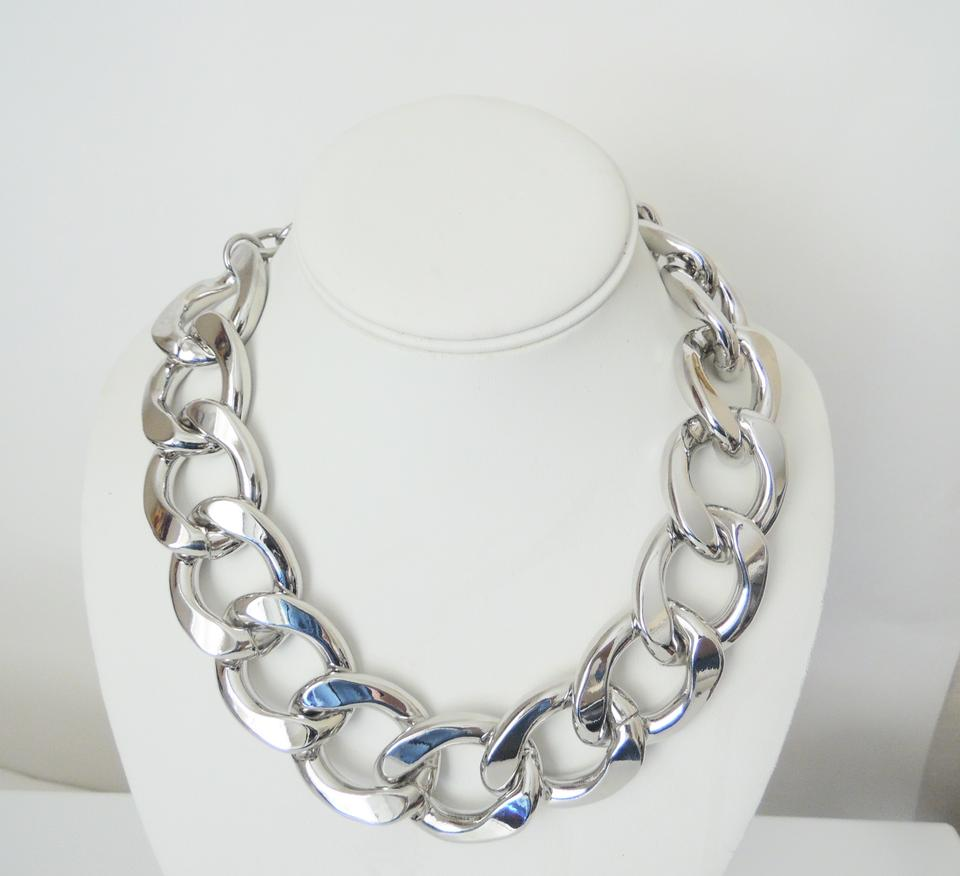 r rj jewelry cleargunmetal necklace statement j gunmetal in graziano gray lyst null rhinestone product