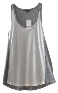 Vince Top Grey and white