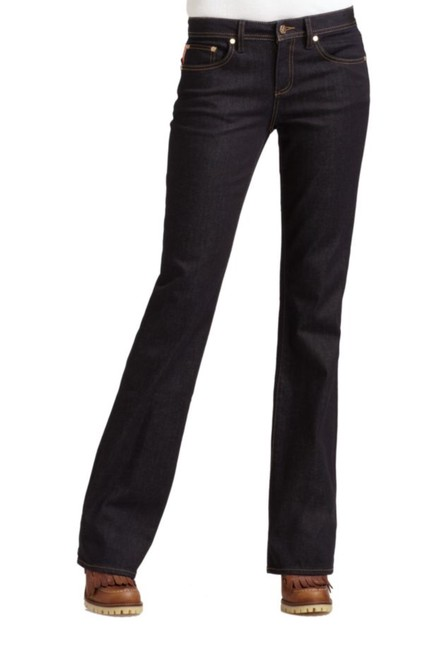 Tory Burch Boot Cut Jeans-Dark Rinse