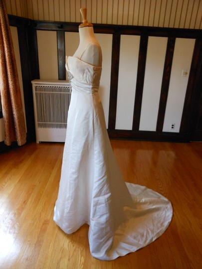 Justin Alexander Ivory Destination Wedding Dress Size 4 (S)
