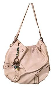 Jessica Simpson Oversized Metallic Hardware Embellished Tote in Off White