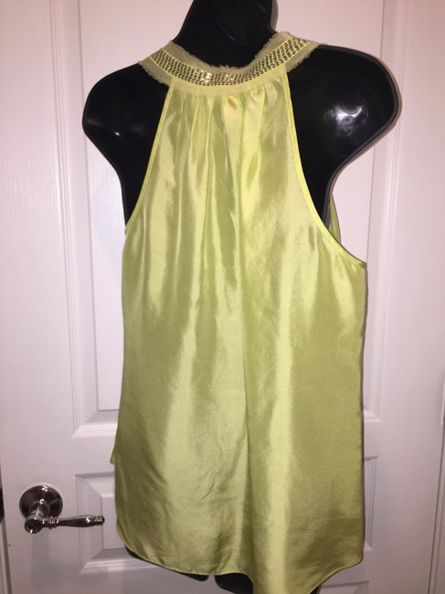 Rebecca Taylor Silk Embellished Party Top Citrus/Yellow