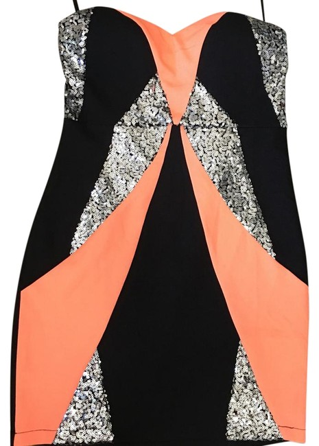 Preload https://item4.tradesy.com/images/black-coral-and-silver-sequin-mini-cocktail-dress-size-4-s-19356858-0-1.jpg?width=400&height=650