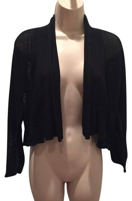 Preload https://item2.tradesy.com/images/white-warren-black-cotton-cardigan-size-12-l-19356921-0-1.jpg?width=400&height=650