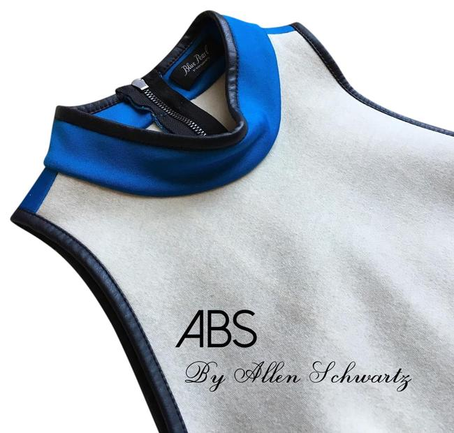 Preload https://img-static.tradesy.com/item/19356925/abs-by-allen-schwartz-blue-white-mock-neck-leather-tank-topcami-size-6-s-0-1-650-650.jpg
