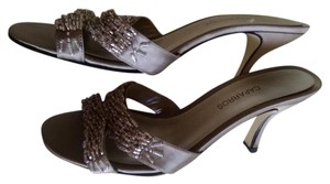 Caparros Taupe satin with beads Sandals