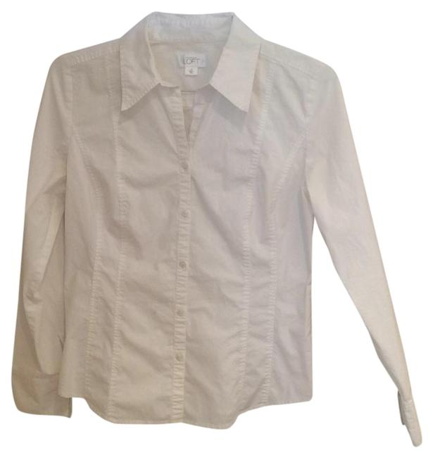 Preload https://item2.tradesy.com/images/ann-taylor-loft-white-button-down-top-size-10-m-19356986-0-1.jpg?width=400&height=650