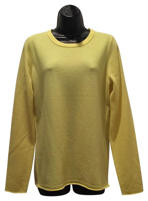 Preload https://item3.tradesy.com/images/jcrew-honeyneon-yellow-collection-cashmere-sweaterpullover-size-12-l-19357002-0-1.jpg?width=400&height=650