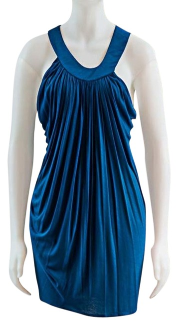 Preload https://item2.tradesy.com/images/anthropologie-blue-draped-grecian-asymmetrical-project-runway-mini-short-casual-dress-size-8-m-19357006-0-1.jpg?width=400&height=650