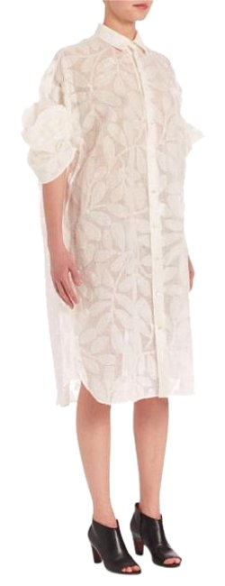 Preload https://item1.tradesy.com/images/junya-watanabe-ivorywhite-pattern-gauze-japanese-shirtdress-s-knee-length-night-out-dress-size-6-s-19357015-0-1.jpg?width=400&height=650