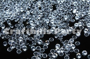 4 000 Pcs Clear Acrylic Diamond Confetti 4.5mm For Wedding Party Floral Centerpiece Decoration Receiption Table Scatters