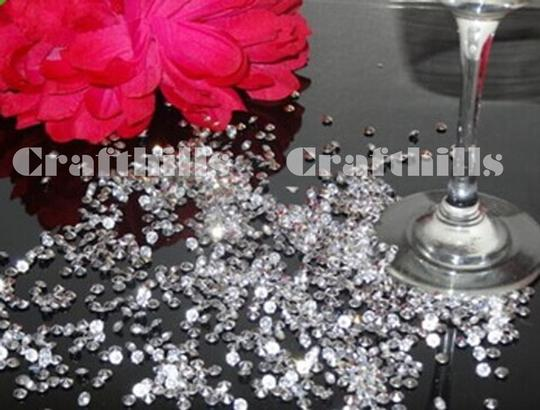 Clear 4 000 Pcs Acrylic Diamond Confetti 4.5mm For Party Floral Receiption Table Scatters Centerpiece