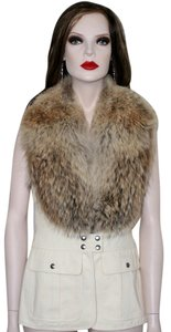 Michael Kors Fur Pants Coyote Vest