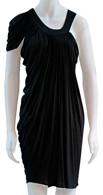 Preload https://item2.tradesy.com/images/anthropologie-black-draped-grecian-asymmetrical-project-runway-mini-night-out-dress-size-4-s-19357096-0-1.jpg?width=400&height=650