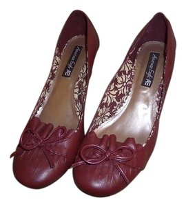 American Eagle Outfitters Loafer Wedge Ae BURGUNDY Wedges
