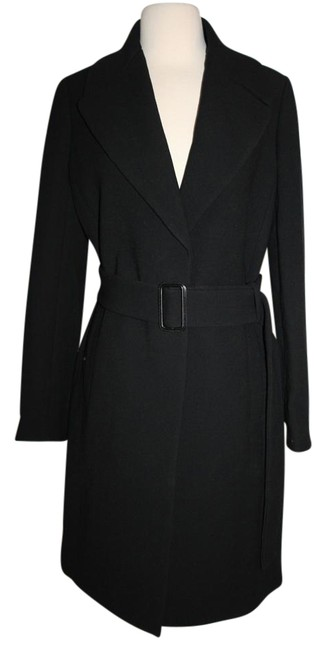 Preload https://item5.tradesy.com/images/jcrew-black-double-cloth-belted-trench-coat-size-12-l-19357174-0-1.jpg?width=400&height=650