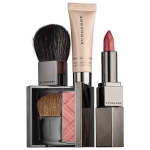 Burberry BURBERRY BEAUTY BOX ROSEWOOD LIPSTICK, BLUSH, FLUID BASE, KABUKI BRUSH