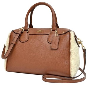 Coach Leather Suede Hobo Bag
